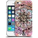 Head Case Designs Rosa Farbspritzer Om Zeichen Soft Gel Hülle für Apple iPhone 5 / 5s / SE