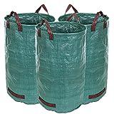 Songmics 3er-Set sac à déchets de jardin 120L 140g/m² GTS120L