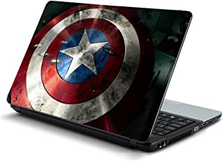 GADGETS WRAP captain america shield Laptop Decal for 15.6 inch laptop 15x10