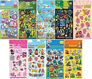 Barbie Stickers 6 Sheets Party Pack Loot Bag Fillers