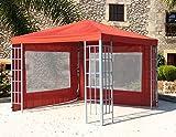 2 Seitenteile mit PVC Fenster zu Aluoptik Pavillon 3x3m Terrakotta
