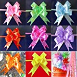 #8: Satyam Kraft 50 PCS Gift Wrapping Pull Flower Ribbon mix Printed Ribbon For Wedding Party/ Birthday /Xmas/Gift Bow Packing Ribbon Gift Wrap & Decoration Multicolor,multi design, 15 MM / gift wrapping ribbons and bows / gift wrapping materials