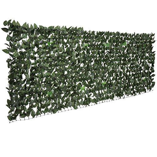 Jago siepe edera artificiale sintetica finta frangivista for Siepe finta per terrazzo