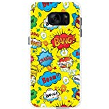 Comic-Aktionen Gelb Ooops Wow Crash Hartschalenhülle Telefonhülle zum Aufstecken für Samsung Galaxy S7 Edge (G935F, 2016 Version)