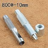 Juego de herramientas de troquelado y perforado para ojales, incluye 20ojales de metal con arandela para confeccionar prendas de tela, piel, etc., 800#-10mm