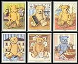 Old-Teddy Bears Toby, Hummel, Patience, Stanley, Wellington-Sammelkarten, Lady Jane