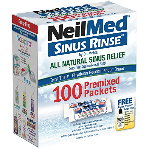 NeilMed Pharmaceuticals - Sinus Rinse All Natural Relief - 120 Premixed Packets