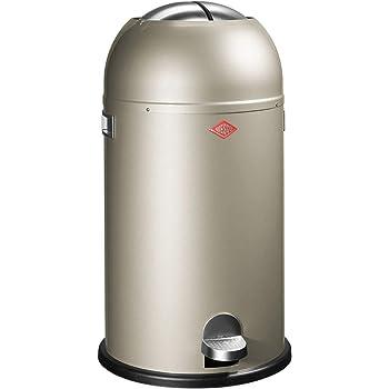 Wesco Kickmaster Zilver.Wesco Kickmaster Powder Coated Steel Waste Bin 33 Litre Silver