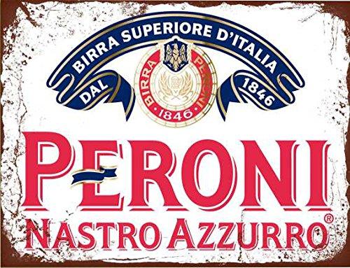 Peroni Nastro Azzurro rétro de bière Style shabby chic style vintage Photo plaque murale en métal