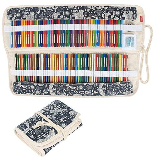 Damero Wrap Tele per 72 matite colorate, cassa del supporto