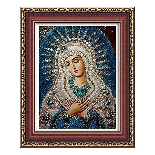 aihome 5d pittura diamante rotondo e fai da te diamante pittura Home Decor punto croce diamante ricamo Mosaico religioso per la famiglia e gli amici, A
