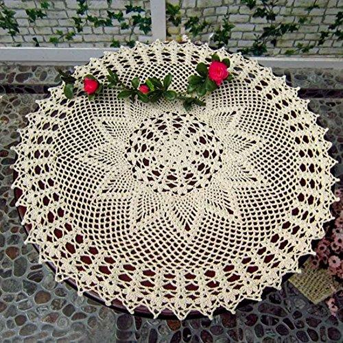 kilofly, handgefertigt, Baumwolle, Spitze und Deckchen, Wasserlilien-Sofa, 55.88 cm, baumwolle, beige, 104
