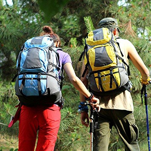 Die neuen Berg Taschen Outdoor-Reisen Sporttasche Rucksack Wanderrucksack Männer und Frauen Hellblau