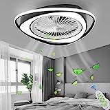 Plafonnier Ventilateur De Plafond Avec Éclairage LED Lumière Dimmable Avec Télécommande Réglable 3 Vitesse Du Vent Plafond Mo