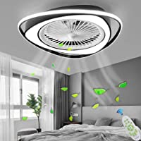 LED Ventilateur Plafonnier Moderne Plafond Fan Avec Télécommande Silencieux Ventilateur Lumière Chambre Lampe Salon…