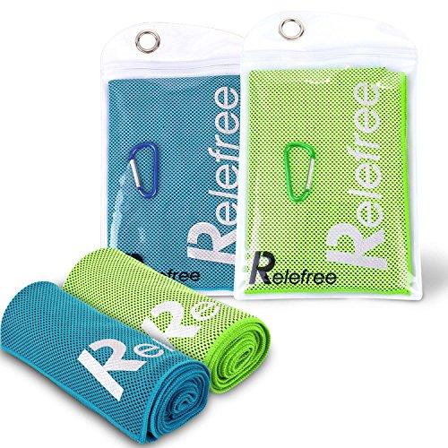 Relefree Sport Handtuch Reisehandtuch, Badetuch Kühlhandtuch Cool für Radfahren, laufen, Yoga