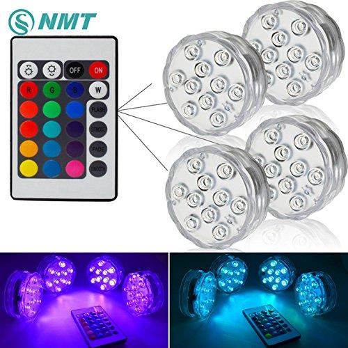 JAYLONG 10 LED RGB Unterwasser Licht IP68 Wasserdicht Für Aquarium Wasser Teich Aquarium,4SET -