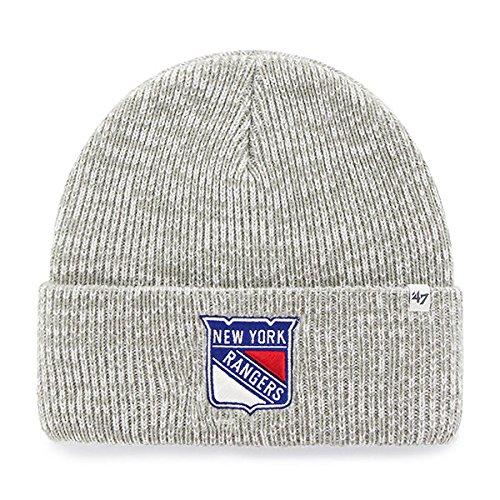 Rangers Cup Stanley York New (NHL New York NY Rangers Brain Freeze '47 Cuff Knit grau Mütze Wollmütze)