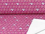 Swafing byGraziela Sweatstoff Blätter Pink (25cm x 155cm)