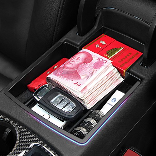2015 Latest Car Glove Box Armrest Storage box Organizer Center Console Tray fit Audi Q5 2008-2015 ABS Plastic ,This item fits in the center console and adds an extra layer for stoats space.
