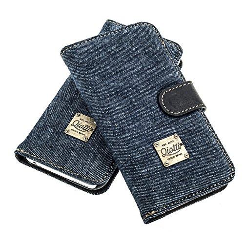 """QIOTTI >          APPLE iPHONE 7 / 7S (4,7"""")          < incl. PANZERGLAS H9 HD+ 2-in-1 Booklet mit herausnehmbare Schutzhülle, magnetisch, 360 Grad Aufstellmöglichkeit, Wallet Case Hülle Tasche handgefertigt aus hochwe RAW BLAU"""