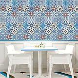 Wand-Aufkleber Küche Deko Badezimmer-gestaltung - Küchen-Fliesen überkleben - Dekorative Bad-Gestaltung - Fliesen-Aufkleber 20cmx5m002, 002