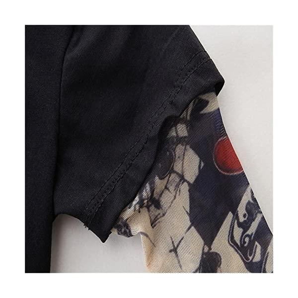 HCFKJ ReciéN Nacido NiñO Bebé Esqueleto Tatuaje Camiseta Tops Pantalones Ropa Conjunto 5