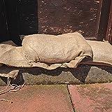 Sandsäcke aus Sackleinen, zum Hochwasser-Schutz, 33 x 76 cm, 10 Stück