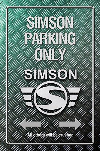 Simson Parking only Metallic blechschild