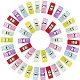GWHOLE 60 Stück Stoffklammern Nähen Zubehöre Kunststoff 6 Farben, 27*10mm -