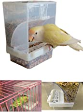 Birds Seed Feeder Unbreakable - Imported from Italy- Good for Canary Finch & Love Birds