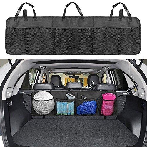 Borse per Bagagliaio, Infrees Bagagliaio Organizer Sedile Posteriore Multi-tasca Rete Borse di Stoccaggio per Auto o SUV, Nero