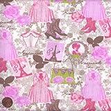 100% Baumwolle Stoff | Milchschokolade | Eleganz 'Couture' | Stoffbreite: 140cm (0,5 m)