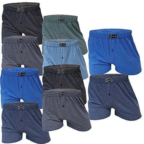 10 Stück Herren-Boxershort Unterhose Δ Unterhosen-Boxershorts-Herren-Unterwäsche-Baumwolle-100-% Δ Retroboxershorts mit Eingriff Δ Spar-Pack von SGS (12/5XL, 10.Stück)