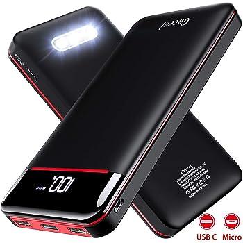 imuto USB-C Batterie Externe 27000mAh Type C Chargeur Portable avec Qualcomm QC3.0, 3 Ports USB