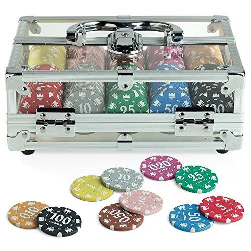 Out of the blue 79//3982/ 2/Jeux de Cartes et 500/jetons 11,5/g /Poker Set dans Un Coffret en Aluminium avec 5/d/és