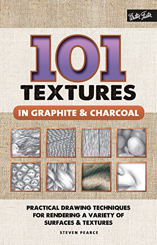 101 Textures in Graphite & Charcoal (English Edition)