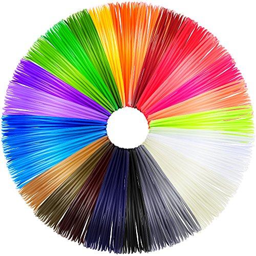 Anpro 28 colori filamenti stampante 3d, filo per penne stampa 3d 20 pezzi abs 1.75mm 20ft 560 feet totale