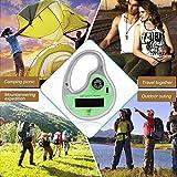 LtrottedJ Chenzhen Ultraschall-Insektenvertreiber mit Kompass, tragbar, solarbetrieben