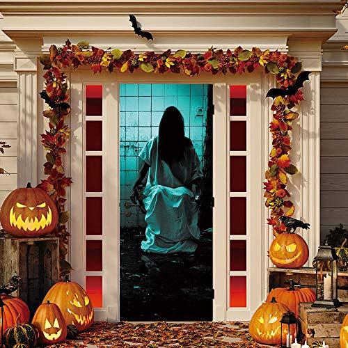 ukhaus Dekor Fenster Tür Abdeckung Aufkleber Zombie HandZoll Halloween Dekoration Horror Wandaufkleber ()