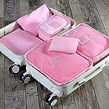 Styleys Waterproof Storage Bag,6pcs/1set,Pink