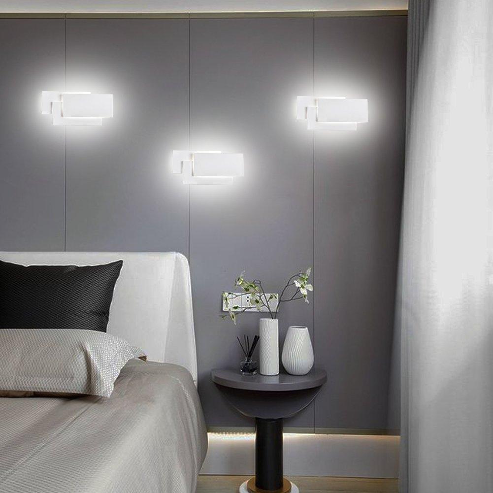 Ralbay Applique da Parete Interni LED 24W 85-265V Lampada a Muro Applique  Moderne da Interno e Estero per Decorazione Soggiorno Camera da Letto Bagno  ...