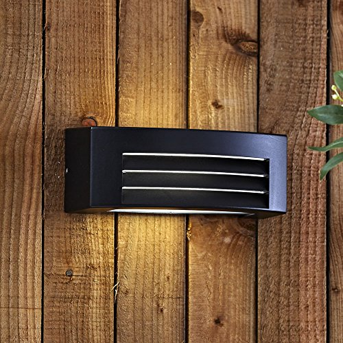 Biard - Applique Extérieure Murale Noire - Design Griglia