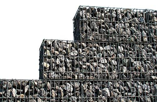4 Stück Gabionen Set 150x100x30 cm Steinkorb Mauer Sichtschutz Gabione Zaun Windschutz Stein Wand