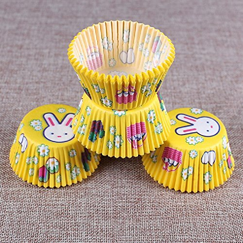 Kc-1981 K&C Kaninchen Cupcake Papier Party Pack Standard Baking Cups Gelb Reynolds Baking Cups