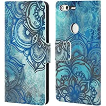 Official Micklyn Le Feuvre Lost In Blue A Daydream Made Visible Mandala 3 Leather Book Wallet Case Cover For Google Pixel