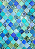 Poster 30 x 40 cm: Cobalt Blue, Gold Moroccan Tile Pattern by Micklyn Le Feuvre - high quality art print, new art poster - POSTERLOUNGE - amazon.co.uk