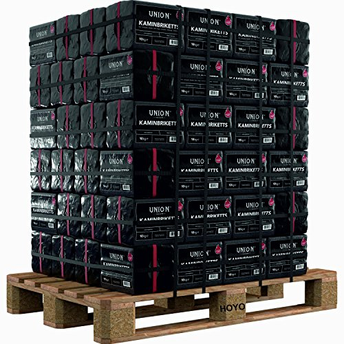 Hoyo Technology GmbH 500 Kg Braunkohle Unionbriketts Braunkohle Kaminbriketts