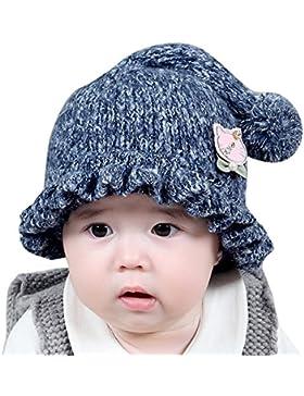 Malloom Winter Baby Kinder Mädchen Jungen Warme Wollene Haube Schal Mützen Hüte