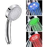 Zerodis LED douchekop met blauw/groen/rood kleurverandering water Glow Light temperatuursensor bad handdouche